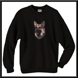 German Shepherd Breed Dog Head Hoodie Sweatshirt Zip Up Jacket s M L