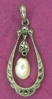Silver Victorian Pendant Jewelry Antique German I18