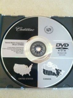 GM Cadillac Navigation DVD 2005 2007 STS Version 2 00 15794606