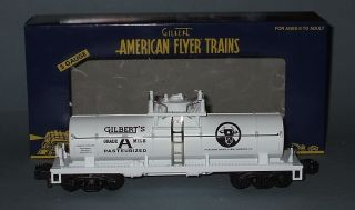 American Flyer Lines #6 48239 Gilberts Grade A Milk Tank Car~NIB~No