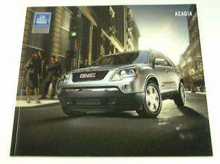 2007 07 GMC Acadia Truck SUV Brochure Sle SLT 1 SLT 2