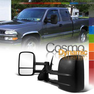 99 02 GMC Sierra 2500 PWR Heat Trailer Tow Side Mirrors