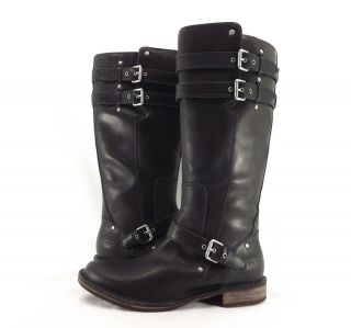 Womens Boots UGG Australia Gillespie Tall Distressed Leather Black