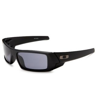 New Oakley Gascan Sunglasses Polished Black Frame 03 471 Grey Lenses