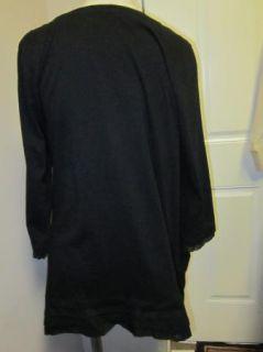 LOGO by Lori Goldstein Asymmetrical Hem T shirt M Black