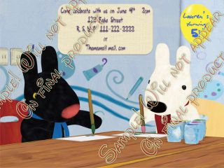 Personalized Gaspard and Lisa Birthday Party Invitations Bonus U Print