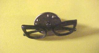 GOLDWATER SPECTACLES Button GLASSES Pin 1964 Pinback Johnson