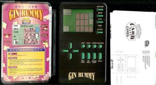 GIN RUMMY electronic handheld game by MGA. Game has been tested and is