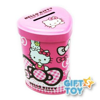 Hello Kitty Heart Shape Giant Ribbon Piggy Bank Coin Bank