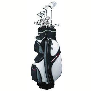 x9 Mens RH Graphite Steel Hybrid Golf Club Package Set Cart Bag