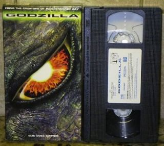 Godzilla Movie VHS Free U s Shipping 043396231238