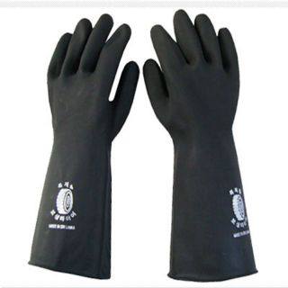 Proof Industrial Heavy Duty Long Gauntlets Rubber Latex Gloves