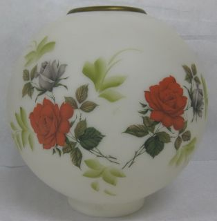Antique Vtg Gone with The Wind Globe Banquet Lamp Shade Floral Roses