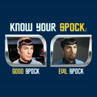 Star Trek Classic TV Know Your Spock Good Evil T Shirt