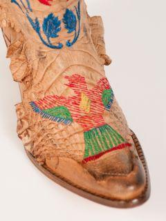 New El Vaquero Crocodile Beige Boots Sz 37 US 7 R $2500