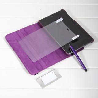 Google Asus Nexus 7 Purple 360 Rotating Magnetic Leather Smart Case