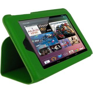Ultra Slim Vegan Leather Case for Google Nexus 7 Tablet Green