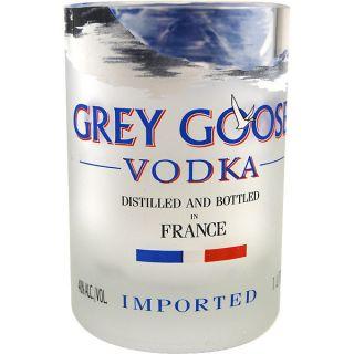 Grey GOOSE Vodka Recycled Bottle Rocks Glass 12 Oz