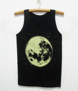 New Full Moon Men Lady Singlet Tank Top Shirt 35 S