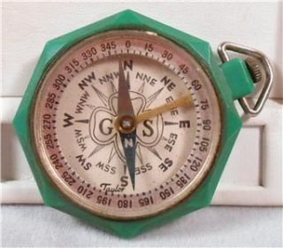 Vintage Girl Scouts Compass by Taylor USA