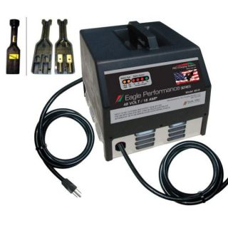 36V 20Ah Dual Pro Golf Cart Battery Charger with Plug #611 for EZ Go