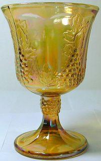 Indiana Glass Company Harvest Grape Pattern Marigold Carnival Glass