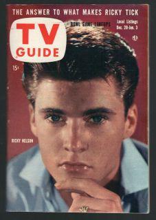 tv guide Rick Nelson Lucille Ball Gene Sarazen Golf Lassie Vintage Las