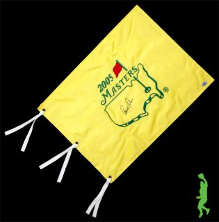 Auto 2005 Masters Golf Pin Flag PGA Tour Hall of Fame COA