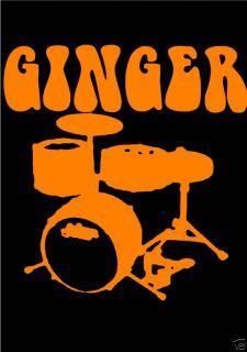 Cream Ginger Baker Cream Eric Clapton Jack Brucet Shirt
