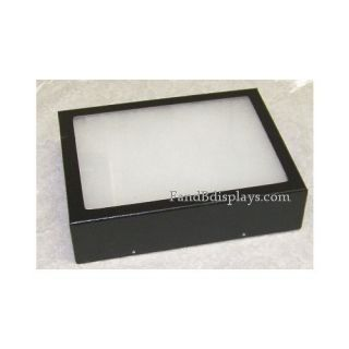 Jewelry Box Glass Top Display Case Fiber Poly Small