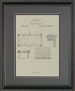 Patent Art Pool Billiards Table 8 Ball Cue Player Print Gift P4290