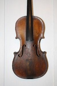 Early 1 2 Size Baroque Violin Labeled Chrift Gottfried Hamm
