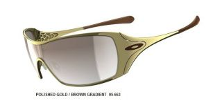 NEW OAKLEY WOMENS DART SUNGLASSES POLISHED GOLD FRAME BROWN GRADIENT