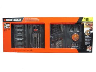 Decker Drill and Screwdriver Power Tool Accessory Set   195 pc NEW