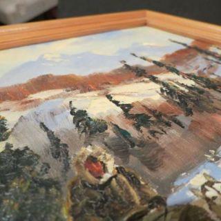Ellen Henne Goodale Alaska Oil Painting Eskimo Sled Dog Team Original