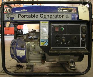 CHICAGO 7 HP GAS GENERATOR, 3050 3500 WATTS MAX, PORTABLE GENERATOR
