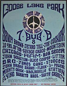 GOOSE Lake Music Festival Hippie Sex Drugs Rock Roll Michigan Pinback