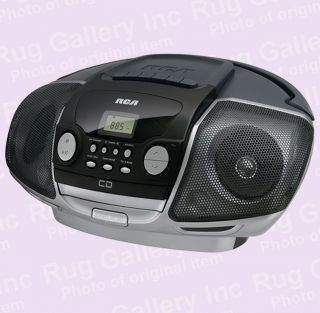 CD Radio Boombox Disc Cassette Player Audio 3 5mm AUX MP3 iPod iPhone
