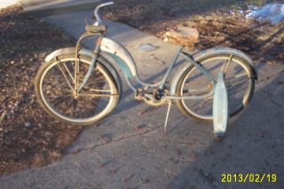 vintage COLSON bicycle girls bike old antique restore ragbrai balloon