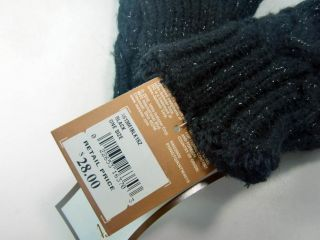 ISO Womens Black Comforsoft Lined Mittens w Leather Heart Palm