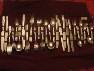 Simon George Rogers Silver Plate Flatware 42 Piece