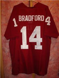 Sam Bradford signed Oklahoma Sooner jersey   PSA/DNA Authentic