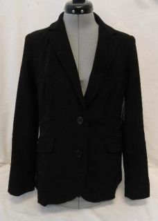 George Womens Clothing Career Suiting Blazer Jacket Black Size 10