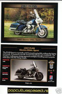 1987 Harley Davidson FLHS Electra Glide Sport Bike Card