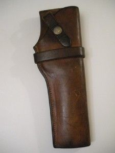 The George Lawrence Co Leather Gun Holster 10 Tan Vintage