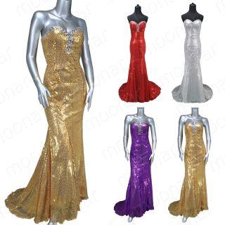 Stright Sequins Beads Wedding Feast Gowns Strapless Long Dress