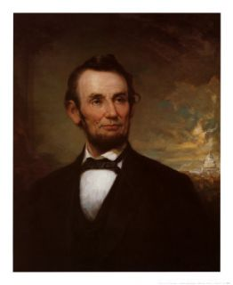 Handmade Oil Painting Repro George H Story Abraham Lincoln