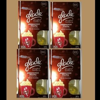 Glade Scented Oil Plugins PEPPERMINT MOCHA Winter Collection 4 Refills