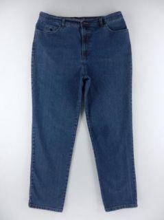 Gloria Vanderbilt Amanda Straight Leg Stretch Jeans Womens Pant Sz 16
