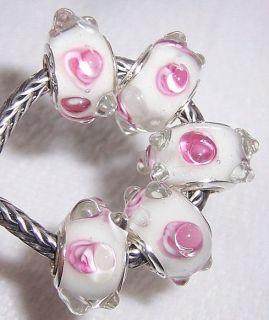Lovely Murano Glass Beads Fit European Charm Bracelet B102